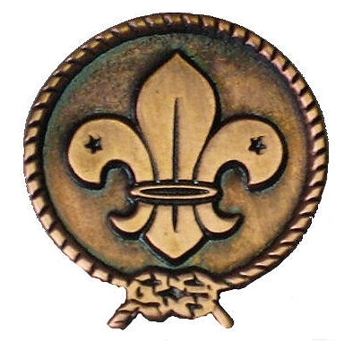 World Scout Copper Pin